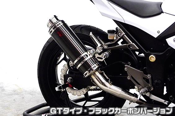 ブラックカーボンバージョン(スリップオン) TTRタイプマフラー ASAKURA(浅倉商事) Z250(JBK-ER250C) GTタイプ
