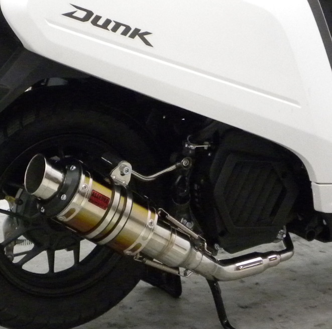ダンク(Dunk)AF74 ZZRタイプマフラー GTタイプ チタンバージョン ASAKURA(浅倉商事)