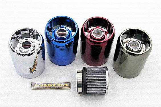 PCX150(KF12 eSPエンジンモデル) パワーフィルターキット ブラックメッキ ASAKURA(浅倉商事)