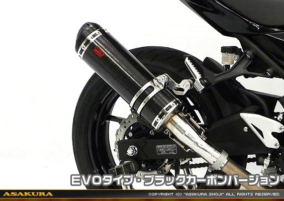 Ninja400(ニンジャ400)2BL-EX400G TTRタイプマフラー スリップオン EVOタイプ ブラックカーボンバージョン ASAKURA(浅倉商事)