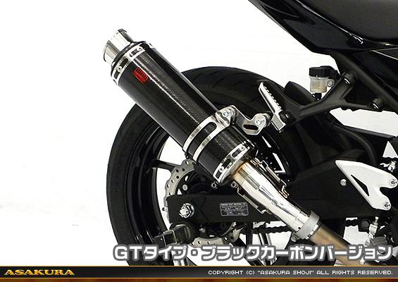 Ninja400(ニンジャ400)2BL-EX400G TTRタイプマフラー スリップオン GTタイプ ブラックカーボンバージョン ASAKURA(浅倉商事)