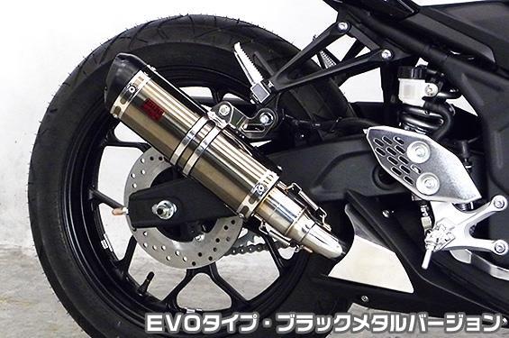 MT-25(JBK-RG10J) TTRタイプスリップオンマフラー EVOタイプ ブラックメタルバージョン ヒートガード・ブラック仕上 ASAKURA(浅倉商事)