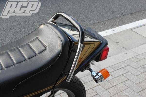 GSX250E/GSX400E ザリ ゴム付きタンデムバー(黒) ACP(エーシーピー)