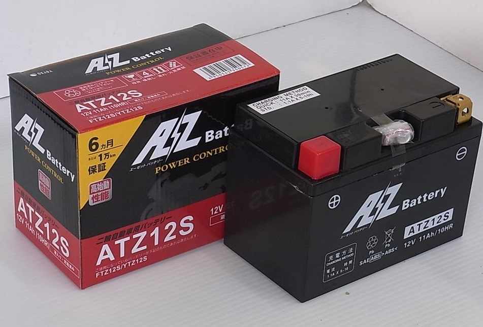 TMAX530 (SJ15J) ATZ12Sバッテリー(YTZ12S互換)液入充電済 AZバッテリー