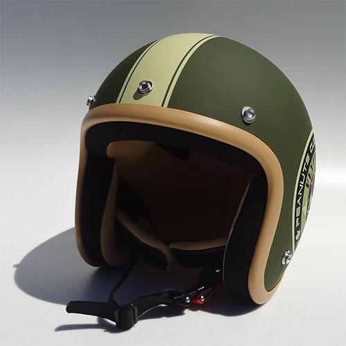 SNOOPY(スヌーピー)ジェットヘルメット バイカー/マットグリーン フリーサイズ(57~60cm) アークス(AXS)