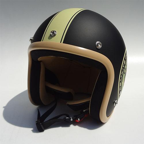 SNOOPY(スヌーピー)ジェットヘルメット マットブラック/アイボリー フリーサイズ(57~60cm) アークス(AXS)