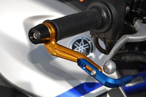 MT-25 レバーガード ガードエンド/ブルー ガードステー/ゴールド ジュラコン/ブラック AGRAS(アグラス)