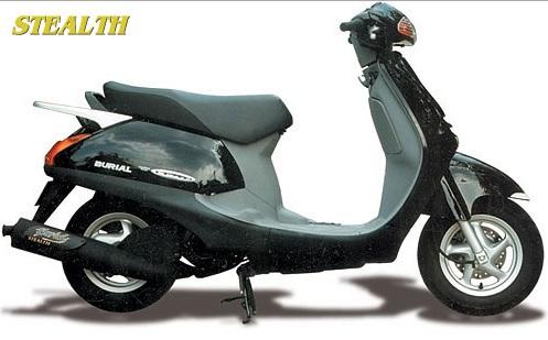 キャビーナ90(CABINA) ステルスマフラー BURIAL(ベリアル)