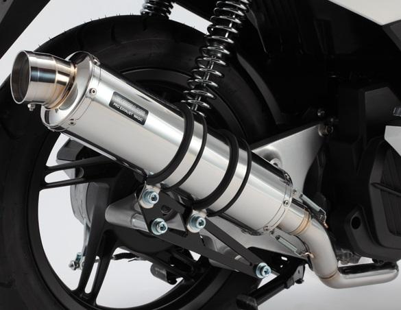 PCX125(後期モデル・eSPエンジン) R-EVO(レーシングエヴォ)マフラー ステンレスサイレンサー BEAMS(ビームス)