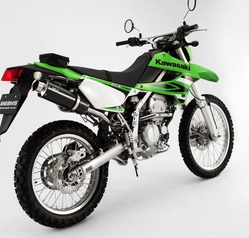 KLX250(BK-LX250S) SS300カーボンマフラー アップタイプ フルエキ BEAMS(ビームス)