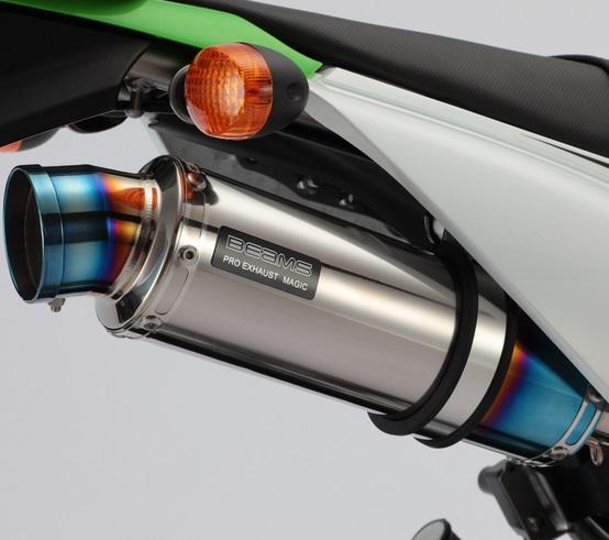 KLX125(EBJ-LX125C) R-EVO(レーシングエヴォ) チタンサイレンサー BEAMS(ビームス)