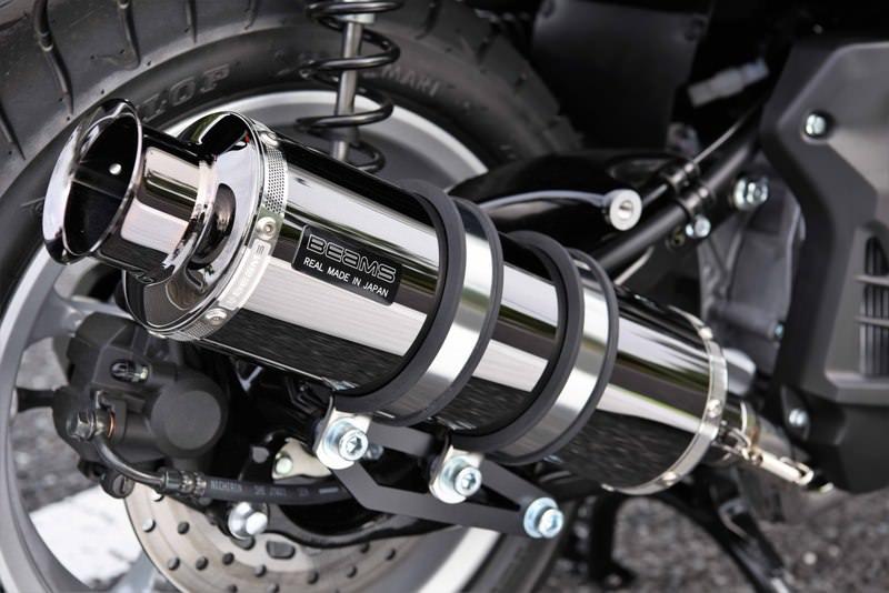 NMAX155(エヌマックス155)2BK-SG50J SS300 SMB(スーパーメタルブラック) SP マフラー 政府認証 BMS-R(ビームス)
