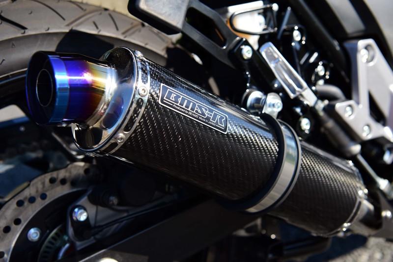 Vストローム250(V-Strom250) R-EVOカーボン スリップオンマフラー 政府認証 BMS-R(ビームス)