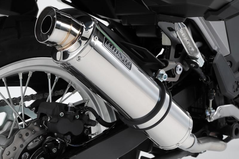 VERSYS-X 250(ヴェルシス250)2BK-LE250D R-EVO スリップオンマフラー ステンレスサイレンサー 政府認証 BMS-R(ビームス)
