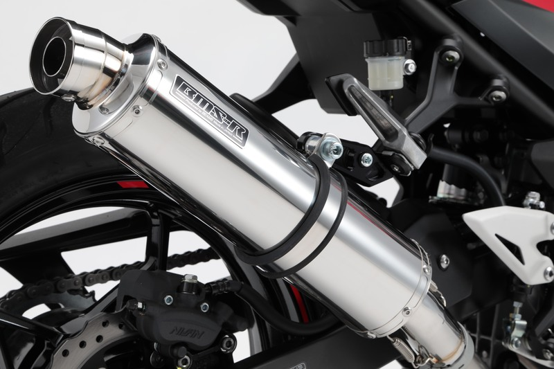 Ninja250(ニンジャ250)18年 R-EVO マフラー スリップオンマフラー ステンレスサイレンサー 政府認証 BMS-R(ビームス)