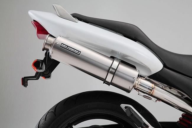 HORNET250(MC31) ラウンドチタンソリッド スリップオンマフラー JMCA認定 BMS-R(ビームス)