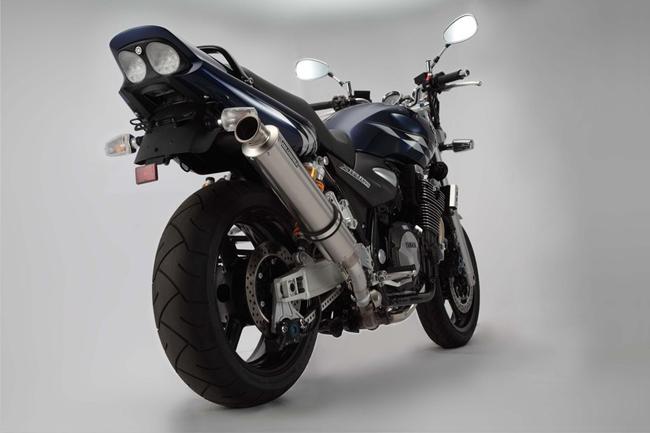 XJR1300(2007年~2009年) R-EVOチタンソリッド スリップオンマフラー JMCA認定 BMS-R(ビームス)