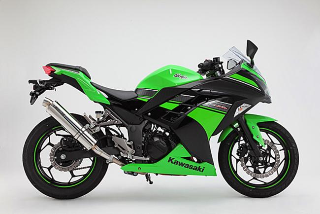 Ninja250(ニンジャ 13~17年) R-EVOステンレスポリッシュ スリップオンマフラー BMS-R(ビームス)