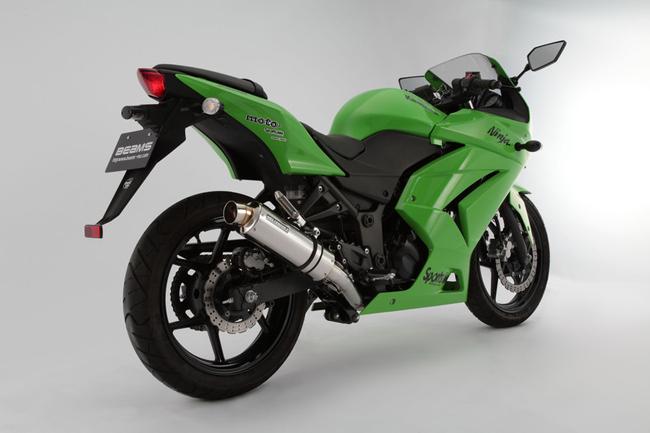 Ninja250R(ニンジャ 09~12年) R-EVOステンレスポリッシュ フルエキ 政府認証 BMS-R(ビームス)