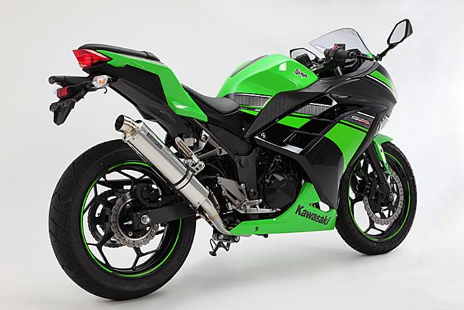 Ninja250(ニンジャ 13~17年) R-EVOステンレスポリッシュ フルエキ 政府認証 BMS-R(ビームス)
