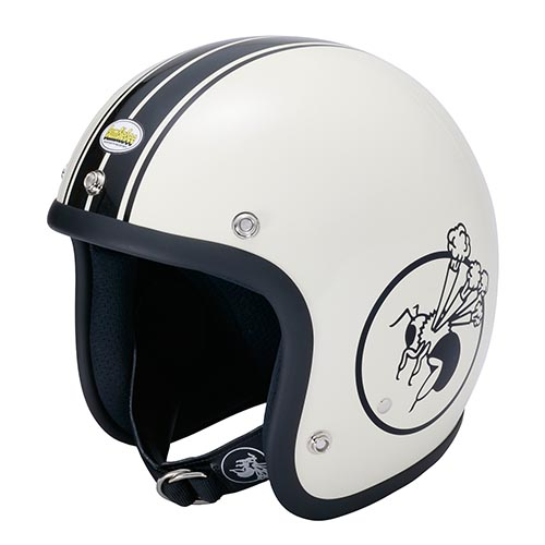 BBHM-01N ジェットヘルメット アイボリー SMサイズ(56-58cm) BumBleBee(バンブルビー)