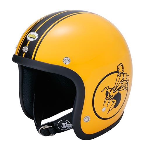 BBHM-01N ジェットヘルメット イエロー SMサイズ(56-58cm) BumBleBee(バンブルビー)