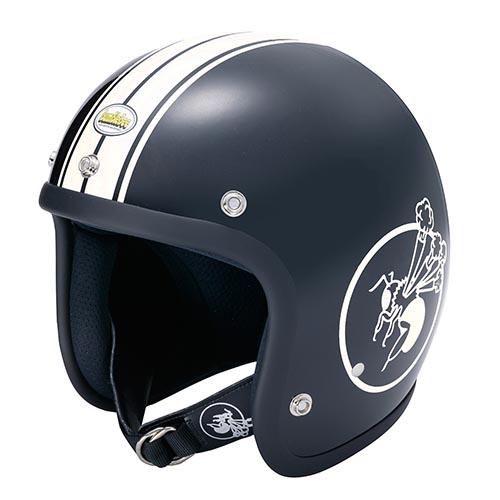 BBHM-01N ジェットヘルメット マットブラック MLサイズ(58-60cm) BumBleBee(バンブルビー)