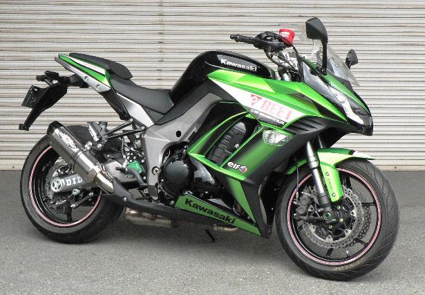 Ninja1000(ニンジャ)/ABS(11~13年) NASSERT(ナサート) Evolution Type2 T-2 スリップオンマフラー ブルーチタン(JMCA認定) BEET(ビート)
