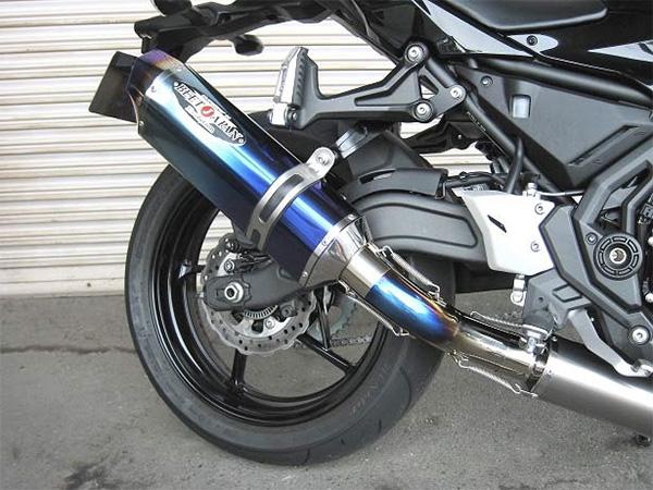 Ninja(ニンジャ)650(ABS)17年 NASSERT Evolution Type2 フルエキゾーストマフラー クリアチタンサイレンサー仕様 BEET(ビート)
