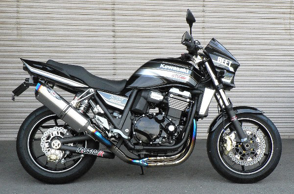 ZRX1200 DAEG(ダエグ)09年~ NASSERT(ナサート) Evolution Type2 3D UP マフラー ブルーチタン(政府認証) BEET(ビート)