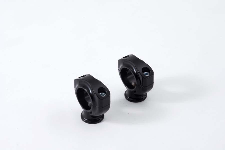 ファットテーパーバー用ライザー ブラック 1.5インチ ベルファスト(BelFast)