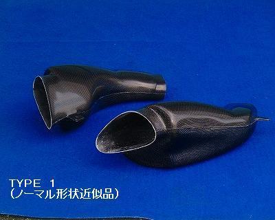 GSX-R1000(01~02年) エアーダクト(R/L)セット タイプ1(ノーマル形状近似品)カーボン CLEVER WOLF RACING(クレバーウルフレーシング)