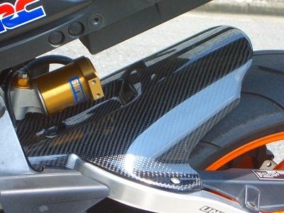 CBR1000RR(04~07年) リアフェンダー カーボン平織 CLEVER WOLF RACING(クレバーウルフレーシング)
