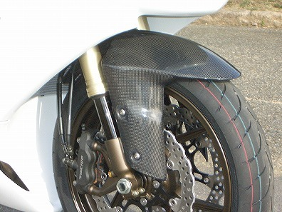 ZX-6R(05~08年) フロントフェンダー カーボン綾織 CLEVER WOLF RACING(クレバーウルフレーシング)