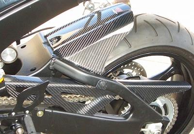 GSX-R1000(05~06年) チェーンカバー(ノーマルと同形状)カーボン綾織 CLEVER WOLF RACING(クレバーウルフレーシング)
