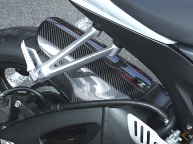 GSX-R600(06~10年) リアフェンダー カーボン綾織 CLEVER WOLF RACING(クレバーウルフレーシング)
