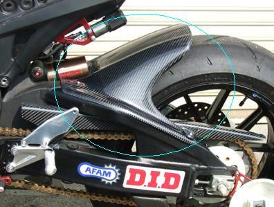 CBR1000RR(08年~) リアフェンダー 黒FRP CLEVER WOLF RACING(クレバーウルフレーシング)
