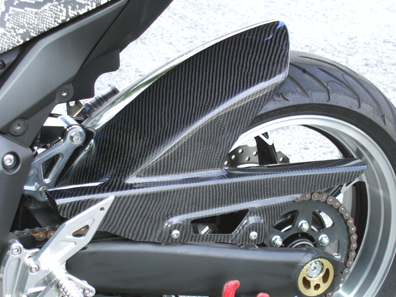 Z1000(10年~) リアフェンダー カーボン平織 CLEVER WOLF RACING(クレバーウルフレーシング)