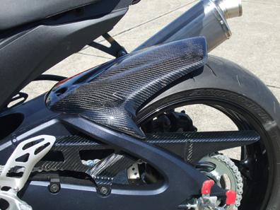 GSX-R600(11年~) リアフェンダー 黒FRP CLEVER WOLF RACING(クレバーウルフレーシング)