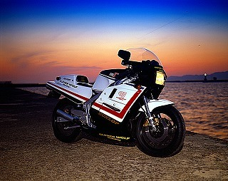 RG500γ フルカウルAssy(白ゲルコート仕上げ) CLEVER WOLF RACING(クレバーウルフレーシング)