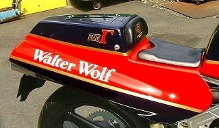 RG500γ シングルシートAssy(白ゲルコート仕上げ) CLEVER WOLF RACING(クレバーウルフレーシング)