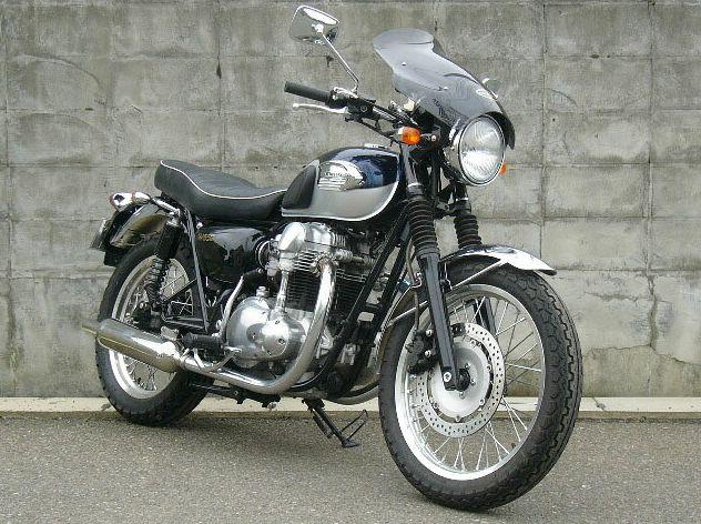 W650(99~09年) ガイラシールド Lサイズ スモーク CHIC DESIGN(シックデザイン)
