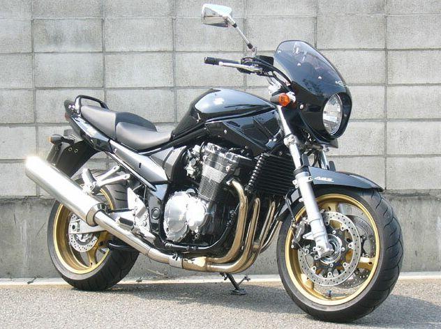 バンディット1200(BANDIT)06年 ロードコメット2 クリアスクリーン パールネブラーブラック(ファイナルエディション)4CX 通常スクリーン シックデザイン