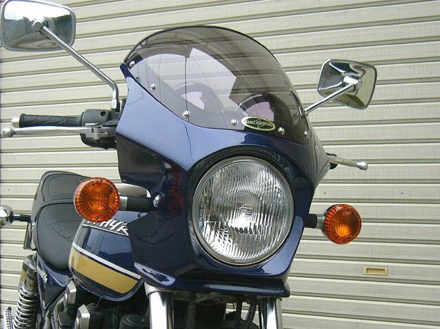 ゼファー400(ZEPHYR)89~95年 マスカロード スモークスクリーン エボニー(H8) 通常スクリーン CHIC DESIGN(シックデザイン)