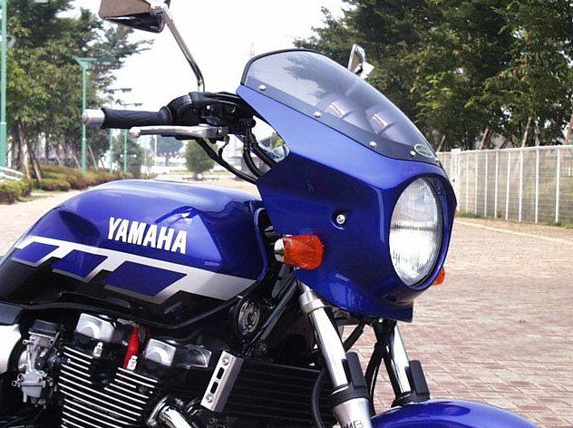 XJR1300(98年~) マスカロード スモークスクリーン ダークパープリッシュブルーメタリックL(0865) 通常スクリーン CHIC DESIGN(シックデザイン)