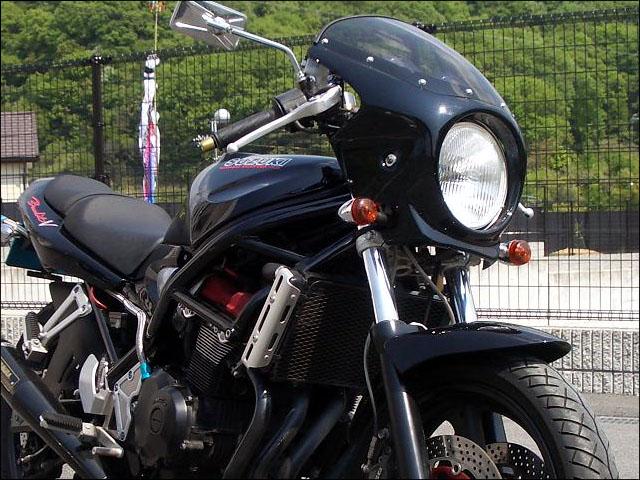 バンディット400(BANDIT)89~94年 ロードコメット スモークスクリーン ブラック(019) 通常スクリーン CHIC DESIGN(シックデザイン)