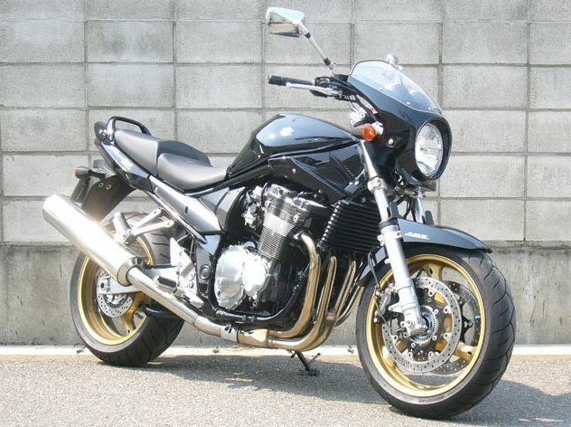 バンディット1200(BANDIT)06年 ロードコメット スモークスクリーン 未塗装(黒ゲルコート) 通常スクリーン CHIC DESIGN(シックデザイン)