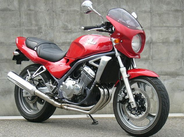 バリオス(BALIUS)91~96年 ロードコメット2 キャンディワインレッド/パールアルペンホワイト(ツートン)スモーク/通常スクリーン シックデザイン