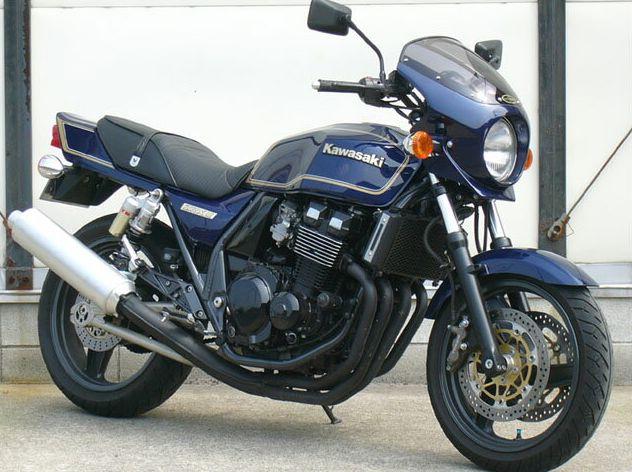 ZRX-II(95~08年) ロードコメット2 クリアスクリーン 未塗装(黒ゲルコート) 通常スクリーン CHIC DESIGN(シックデザイン)