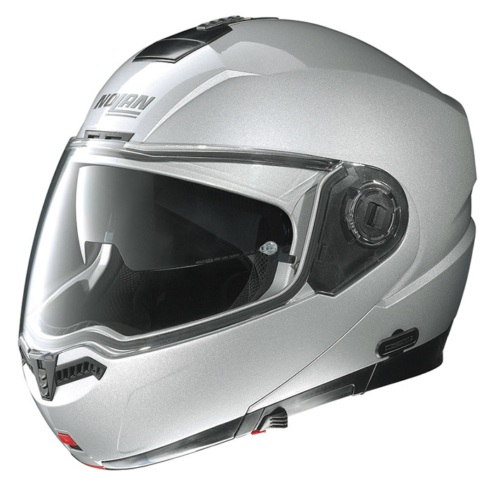 N104 ソリッド プラチナシルバー Mサイズ フリップアップヘルメット NOLAN(ノーラン)